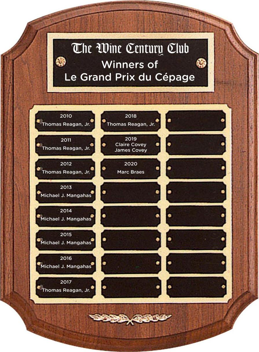 The Wine Century Club | Winners of Le Grand Prix du Cépage